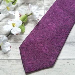 Geoffrey Beene | Paisley 100% Silk Tie